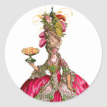 Marie Antoinette and Peacock Stickers Tags