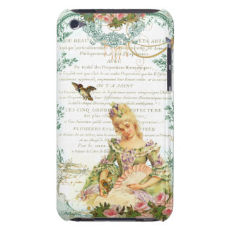 Marie Antoinette and Sparrow French Script Barely There iPod Case