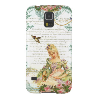 Marie Antoinette and Sparrow French Script Galaxy S5 Cover