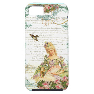 Marie Antoinette and Sparrow French Script iPhone 5 Covers