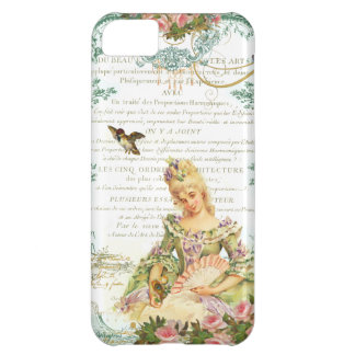 Marie Antoinette and Sparrow French Script iPhone 5C Case