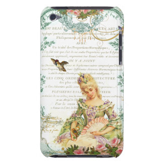 Marie Antoinette and Sparrow French Script iPod Touch Covers