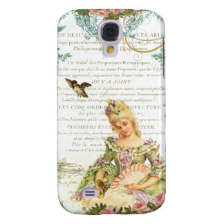Marie Antoinette and Sparrow French Script Samsung Galaxy S4 Cases