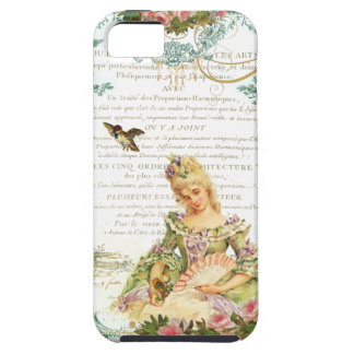 Marie Antoinette and Sparrow French Script Tough iPhone 5 Case