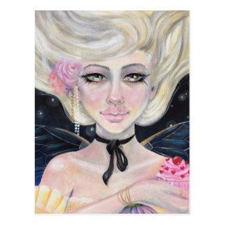 Marie Antoinette and the cherry topped cupcake Postcard