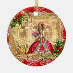 Marie Antoinette at Versailles Christmas Round Ceramic Decoration