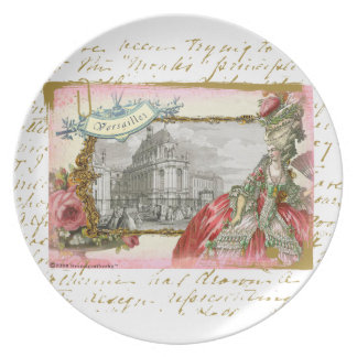 Marie Antoinette at Versailles Collage Plate