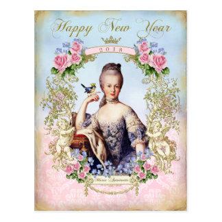 Marie Antoinette Bird Pink Roses Postcard New
