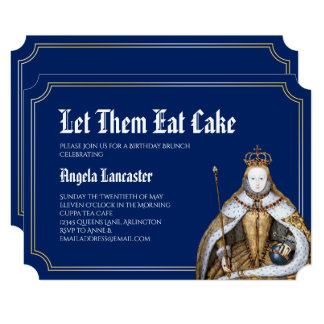 Marie Antoinette Birthday Brunch Party Card