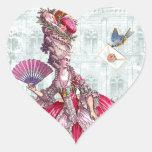 Marie Antoinette & Bluebird Heart Stickers