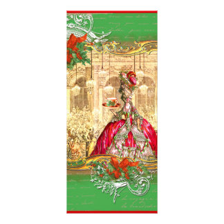 Marie Antoinette Bookmark Christmas Party Rack Cards