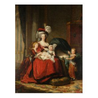 Marie Antoinette & Children Le Brun Fine Art Postcard