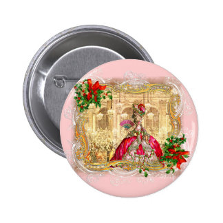 Marie Antoinette Christmas Ball 6 Cm Round Badge