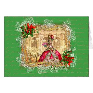 Marie Antoinette Christmas Ball Cards
