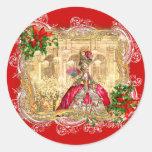 Marie Antoinette Christmas Ball Sticker