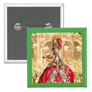 Marie Antoinette Christmas Party at Versailles 15 Cm Square Badge