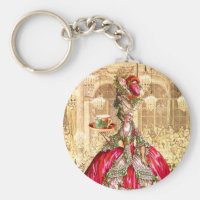 Marie Antoinette Christmas Tea Party Keychain