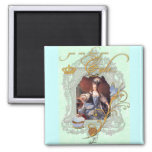 Marie Antoinette Cupcake and Bluebird Refrigerator Magnet