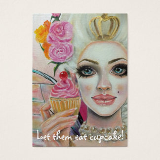 Marie Antoinette Cupcake Queen in Pink Business Card