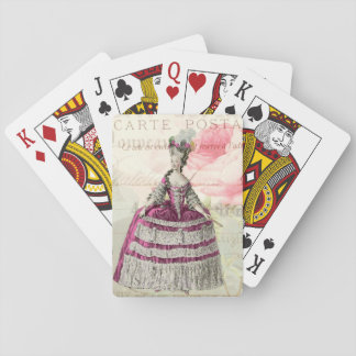 Marie Antoinette French Accent Playing Cards