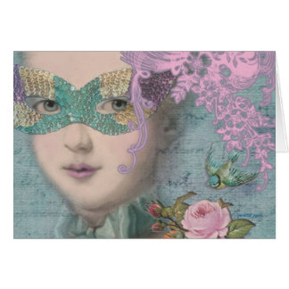 Marie Antoinette French Masquerade Card