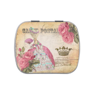 Marie Antoinette Gold Postal Candy Tin