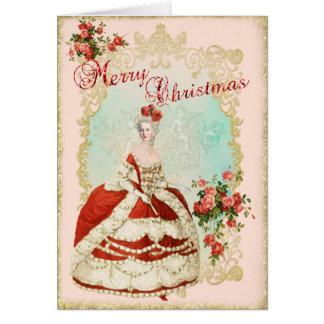 Marie Antoinette Greeting Card Christmas Rose