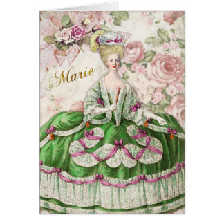 Marie Antoinette Greeting Card Rose Bouquet