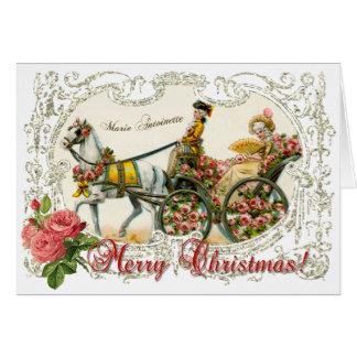 Marie Antoinette Greeting Card White Christmas