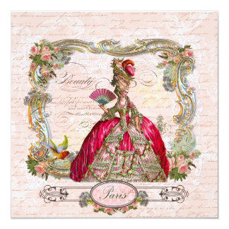 Marie Antoinette Hot Pink & Paris Card