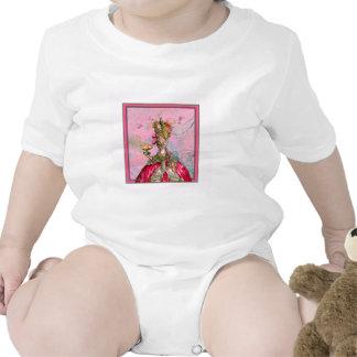 Marie Antoinette Hot Pink & Peacock Baby Bodysuit