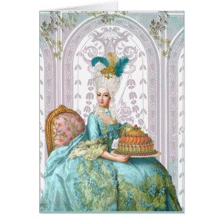 Marie Antoinette in Aqua Greeting Cards