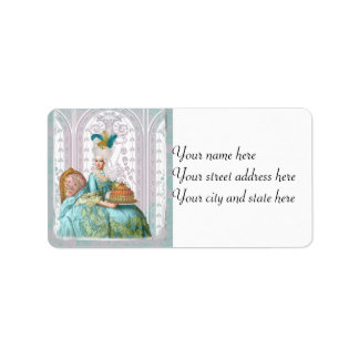 Marie Antoinette in Aqua with Cake Address Label