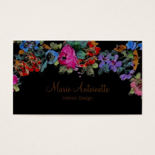 Marie Antoinette in Flowers ~ Business Cards