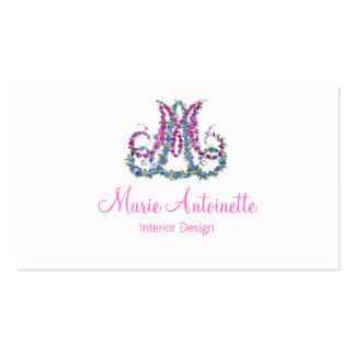 Marie Antoinette in Flowers ~ Business Cards