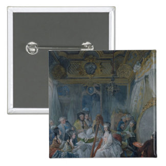 Marie Antoinette  in her chamber at Versailles 15 Cm Square Badge