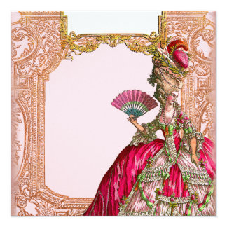 Marie Antoinette in Hot Pink 13 Cm X 13 Cm Square Invitation Card