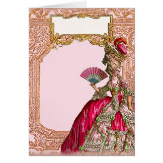 Marie Antoinette in Hot Pink Greeting Card