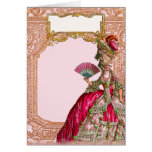 Marie Antoinette in Hot Pink Greeting Cards