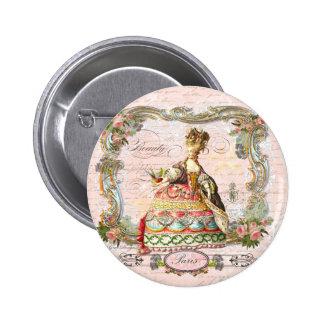 Marie Antoinette in Pink 6 Cm Round Badge