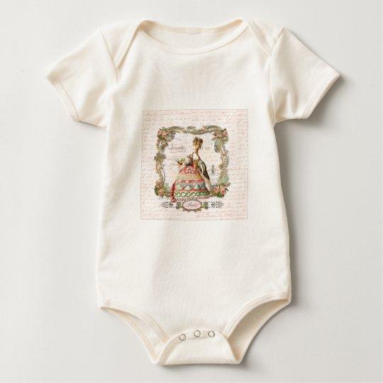 Marie Antoinette in Pink Baby Bodysuit