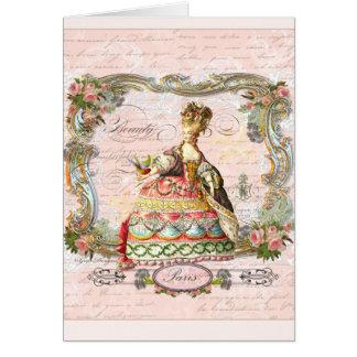 Marie Antoinette in Pink Card
