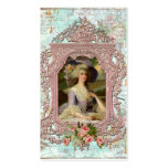 Marie Antoinette in Pink Frame Pack Of Standard Business Cards