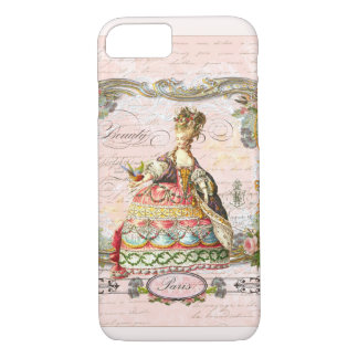 Marie Antoinette in Pink iPhone 7 Case