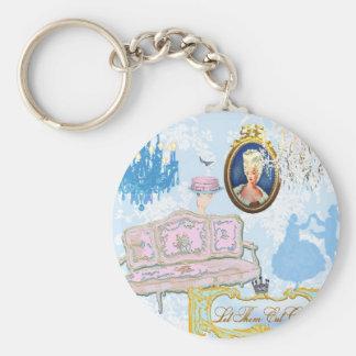 Marie Antoinette Keyring Basic Round Button Key Ring
