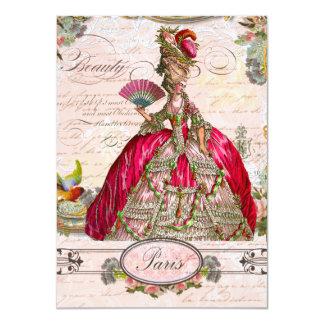 Marie Antoinette Let them Eat Cake 11 Cm X 16 Cm Invitation Card