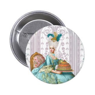 Marie Antoinette Let them eat Cake 6 Cm Round Badge