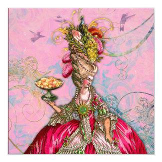 Marie Antoinette Let them Eat Cake Custom Invites