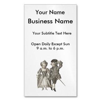 Marie Antoinette Louis XVI Romantic Couple Magnetic Business Card
