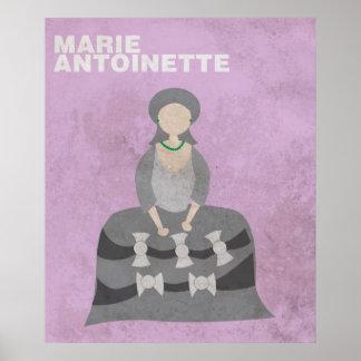 Marie Antoinette:Minimalist Historical Figures Pos Poster